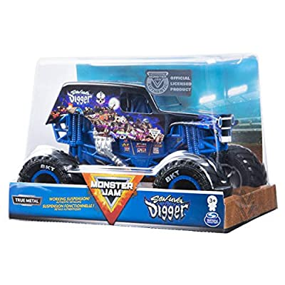 Monster Jam Son-uva Digger Official 1:24 Scale Diecast Monster Truck by Spin Master: Toys & Games