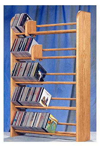 Solid oak dowel CD rack 275 (honey oak) (37H x 24.25W x ()