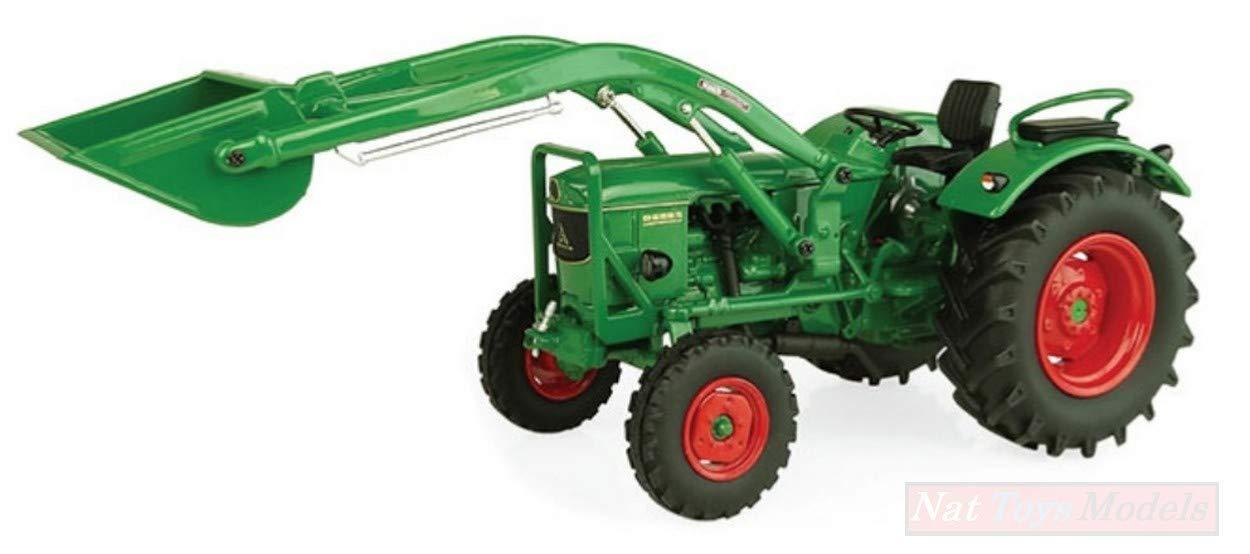 NEW Universal Hobbies UH5254 DEUTZ-FAHR D6005 2WD with Front Loader 1:32 Die Cast
