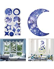 ZIIVARD Wind Chimes Resin Epoxy Silicone Mold Kits Moon Star Wall Hanging Decoration Pendant Charms Resin Casting Molds for DIY Wind Bell Decorations