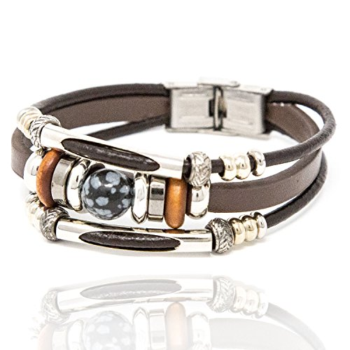 Chuvora Stainless Steel, Leather, Wood, Resin...