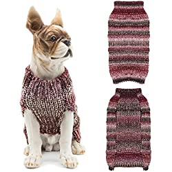 Scheppend Pet Puppy Holiday Jumpers Pullover Sweater Cats Dogs Ugly Sweater Costume, Wine Red S