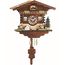 Trenkle Kuckulino Black Forest Clock Swiss House with quartz movement and cuckoo chime TU 2035 PQ
