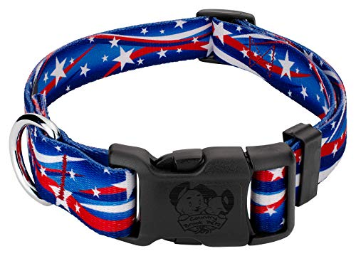 Country Brook Design - Deluxe Star Spangled Dog Collar - Large