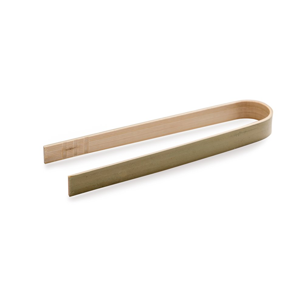 Premium 4'' Disposable Bamboo Tongs - Eco-Friendly For Catering, Buffet or Home Use - 100ct Box - Restaurantware