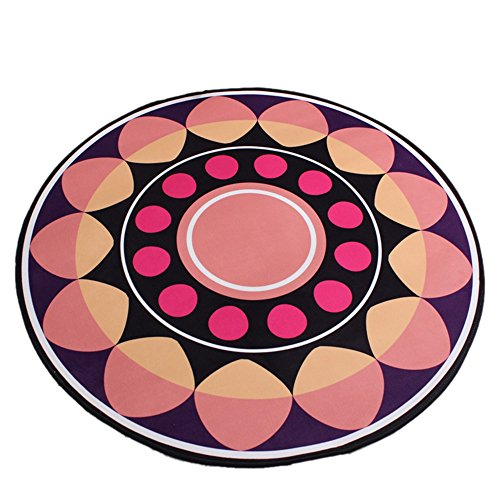 Fashion pattern round carpet diameter 60-200cm / bedroom bed blanket thickness 0.8cm crawling pad / Nordic carpet simple children's cartoon mat ( Size : Diameter 160cm ) by XIN-Carpet
