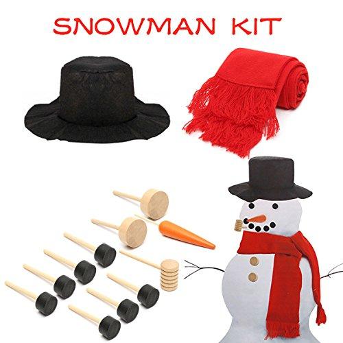 15PCS Snowman Dress Up Decorating Building Set Gift (Uk Christmas Large Figures Father)