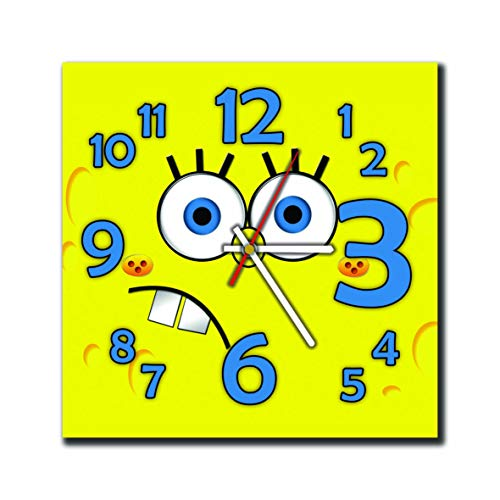 mV Spongebob 11.4'' Handmade Wall Clock - Get Unique décor Home Office – Best Gift Ideas Kids, Friends, Parents Your Soul - Squinkies Spongebob