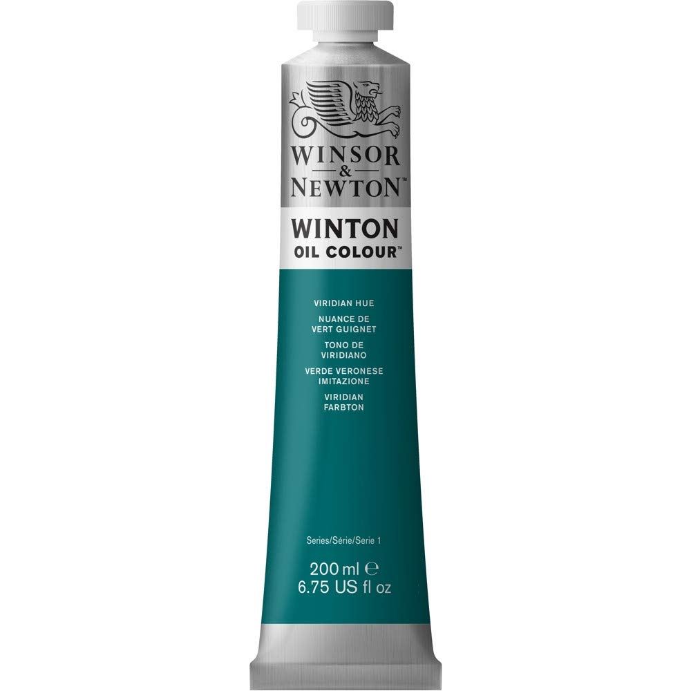 Winsor & Newton Winton Oil Color Paint, 200-ml Tube, Viridian Hue