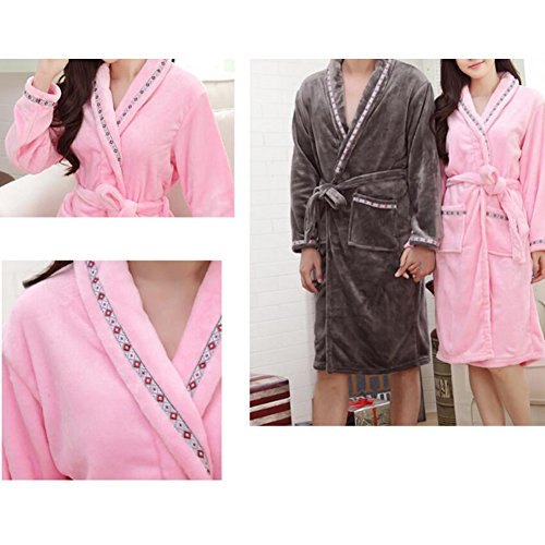 Pajama Casual Set chaud Pyjamas Femmes/Lovers flanelle Nightgown X-grand-A4