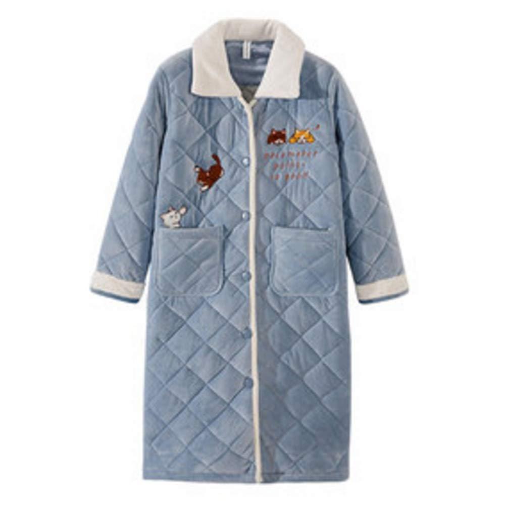 Albornoz Nan Liang Mujeres (S - XXL) 100% de algodón, Toalla de baño con Capucha y Capucha, 2 Bolsillos - Batas de baño Suaves, absorbentes y cómodas Cómodo (Tamaño : XL)