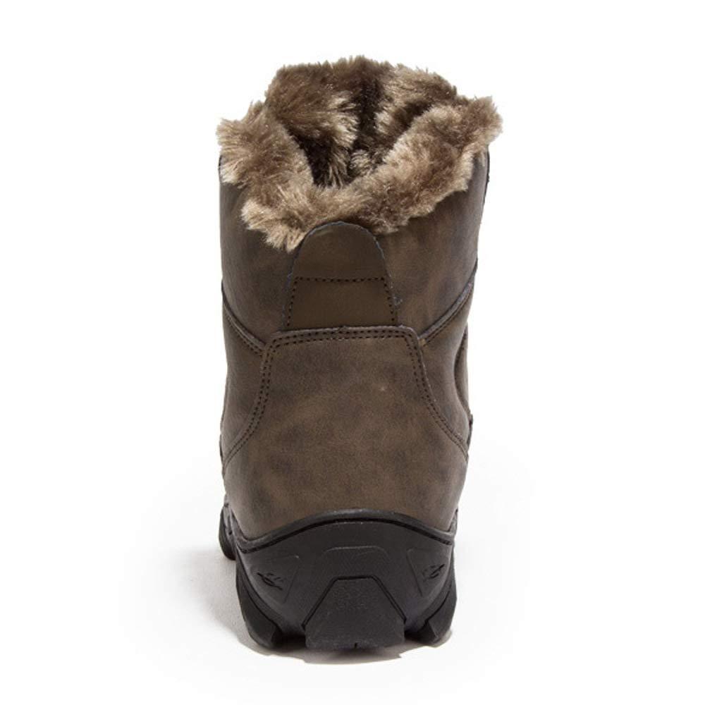 WANG-LONG Schuhe Herren Martin Stiefel Herbst Und Winter Retro Plus Samt Warme Retro Winter Outdoor Werkzeug Baumwolle Lederstiefel Rutschfeste Mode,braun-39 a11125