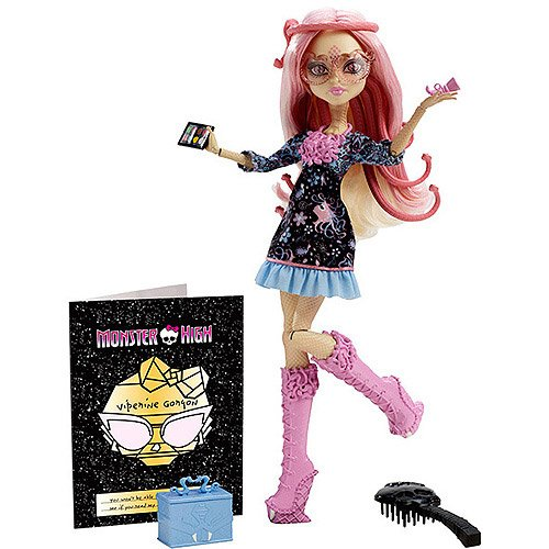 Monster High Frights Camera Action Hauntlywood Viperine Gorgon Doll]()