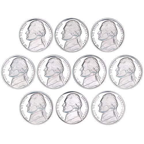1980 S - 1989 S Jefferson Nickel 10 Coin Set Gem Deep Cameo Proof Run
