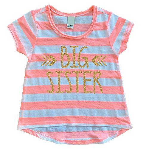 Bump and Beyond Designs Big Sister Shirt, Baby Girl Clothes, Big Sister Gift (6T)