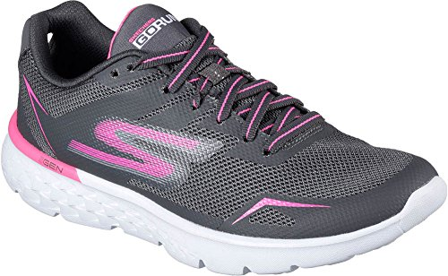 Skechers Go Run 400-Obstruct Charcoal/Pink Womens Running Size 10M