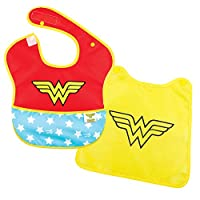 Bumkins DC Comics SuperBib with Cape, Wonder Woman (6-24 Months)