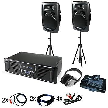 Equipo DJ Chicago amplificador PA altavoces auriculares