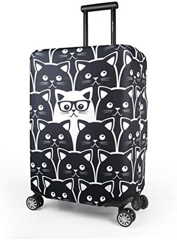 Cute Vintage Sewing Machine Print Luggage Protector Travel Luggage Cover Trolley Case Protective Cover Fits 18-32 Inch