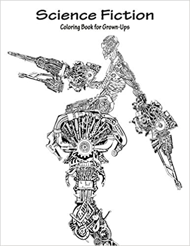 Amazon.com: Science Fiction Coloring Book for Grown-Ups 1 (Volume 1 ...