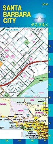 Santa Barbara / Goleta, CA City Pearl Map by GM Johnson - Mall City Johnson Map