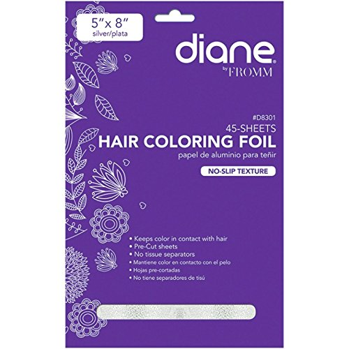 (Diane Embossed D8301 45 Sheets Hair Coloring Foil, Silver)
