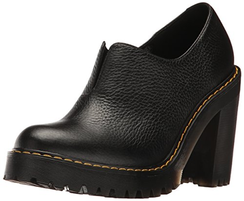 Dr. Martens Women's Cordelia Mule, Black, 8 UK/10 B US (Clogs Leather Black Heels)