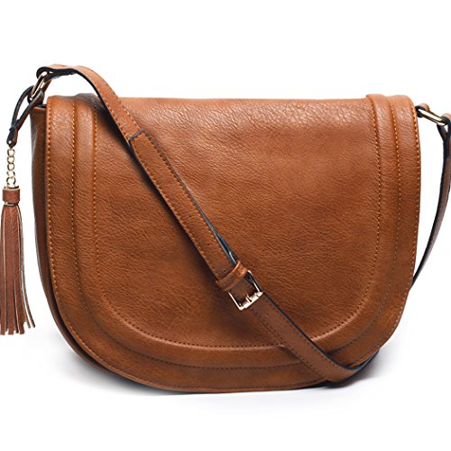 AMELIE-GALANTI-Womens-Saddle-Bag-Tassles-Shoulder-Crossbody-Bags-With-Flap-Top