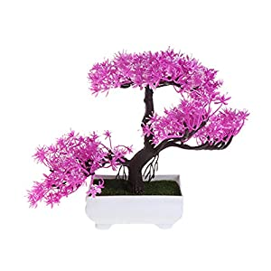 LIYUDL Artificial Pine Bonsai Fake Guest-Greeting Pine Mini Simulation Tree Plants with Pot for Home Weeding Office Decoration and Table Centerpieces 38