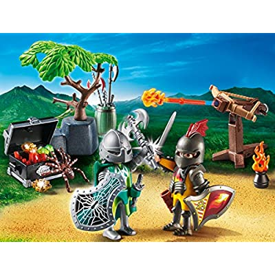 PLAYMOBIL Knight's Treasure Battle and Figure Pack Playset: Toys & Games