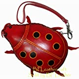 Lovely Ladybug Design, Genuine Leather Wristlet Mini Bag, Change/coin Purse, Credit Cards/id Card Holder, Jewelry Holder too
