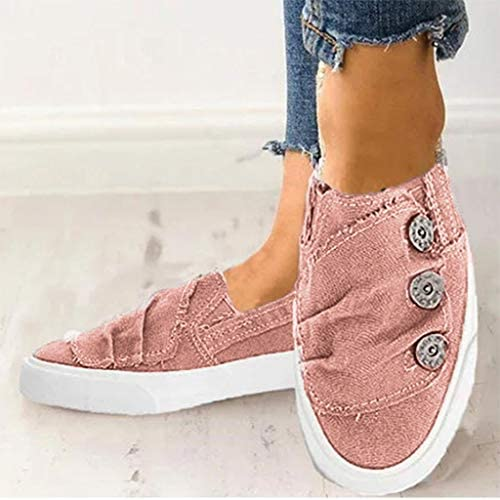 Women Canvas Flat Shoes Sports Running Sneakers Beach Flats Shoes Summer Casual Cowboy Shoes through Gyouanime