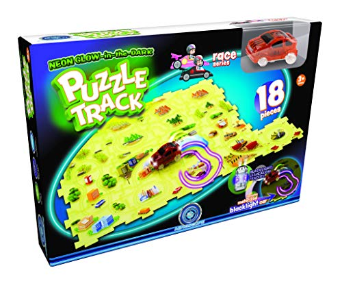 - Mindscope Neon Glow in The Dark Puzzle Track 18 Pieces Race Series