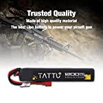 TATTU 11.1V LiPo Airsoft Stick Battery Deans Connector,3S 1200mAh 25C Battery Pack Airsoft Gun