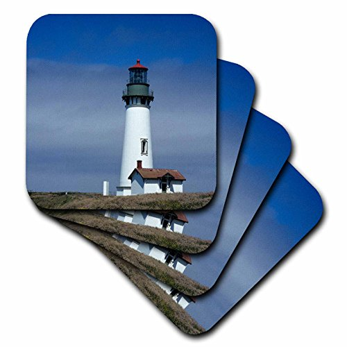 (3dRose CST_93828_1 Oregon, Newport, Yaquina Head Lighthouse US38 JWI0131 Jamie and Judy Wild Soft Coasters, Set of)