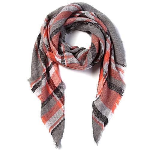 Women Scarf Winter Triangle Scarf Women Shawl Cotton Foulard Plaid -