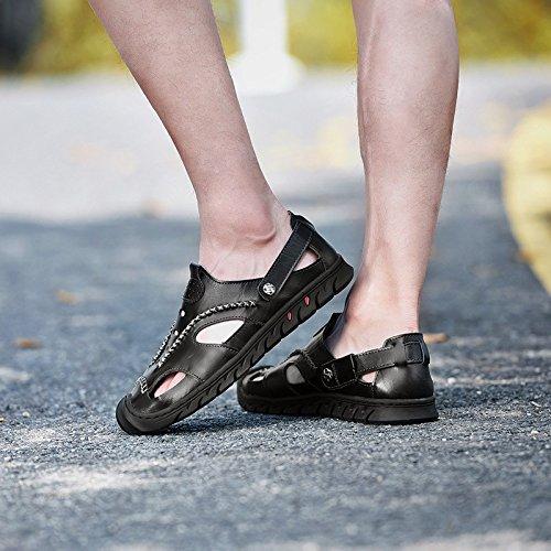 B Cuero Aire Zapatos Al Antideslizante Sandalias Los Wknbeu Casual Verano Hombres Libre Playa Moda De Xwpaw6qZ