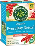 Traditional Medicinals Organic EveryDay Detox Schisandra Berry Detox Tea, 16 Tea Bags (Pack of 6)