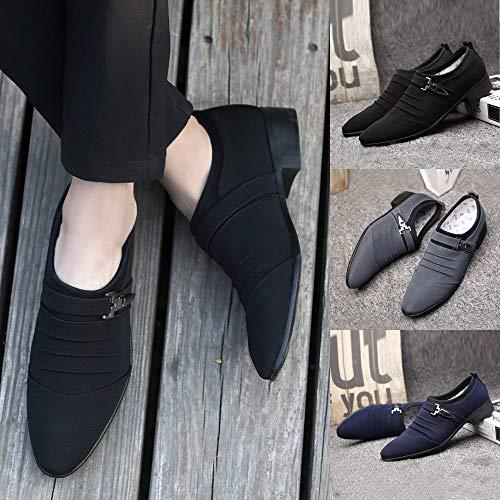 Sportive Blu Pointed Oyedens Stringate Scarpe Sneakers Toe Ginnastica Shoes Outdoor Business Da Antiscivolo Formal Uomo Corsa fxAxtqZ