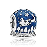PANDORA Christmas Night Charm, Midnight Blue Enamel & Clear CZ 796386EN63