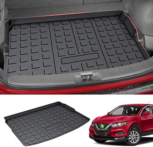 Mixsuper Anti-Skid Cargo Liner for 2021 Rogue Sport TPO All Weather Rear Durable Odorless 3D Trunk Floor Mat Custom Fit for Nissan Rogue Sport 2017 2018 2019 2020 Not for Nissan Rogue SV S SL 4