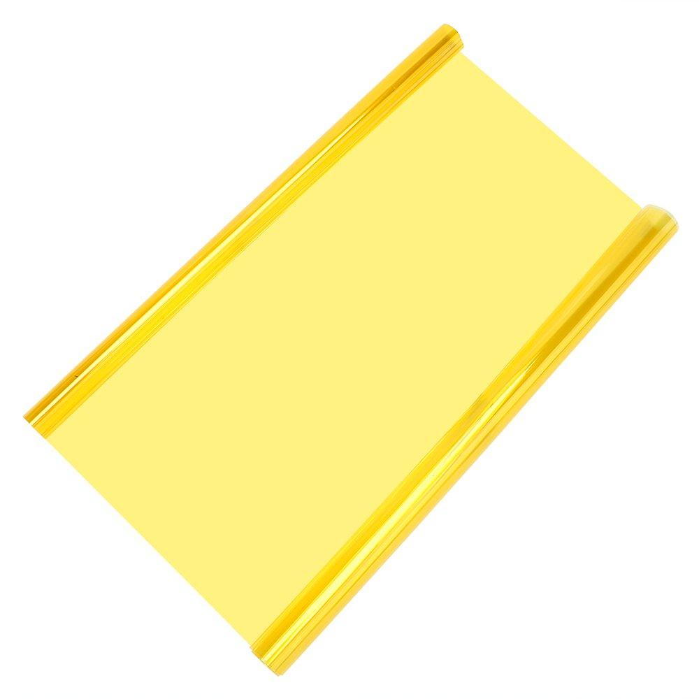 Holdream Pegatinas para Faros Traseros de Coche, 30 cm x 60 cm, Color Amarillo