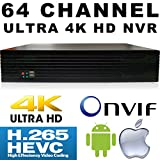 USG 64 Channel H.265 Ultra 4k IP Security NVR : 64ch @ 4K 4096×2160 : Max 48TB, ONVIF 2.4, RTSP, 2x HDMI + VGA, USB, Audio, 2x Gigabit RJ45 : For USG LS Model Line IP Cameras : Business Grade IP CCTV