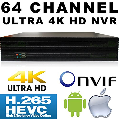 USG 64 Channel H.265 Ultra 4k IP Security NVR : 64ch @ 4K 4096×2160 : Max 48TB, ONVIF 2.4, RTSP, 2x HDMI + VGA, USB, Audio, 2x Gigabit RJ45 : For USG LS Model Line IP Cameras : Business Grade IP CCTV by Urban Security Group