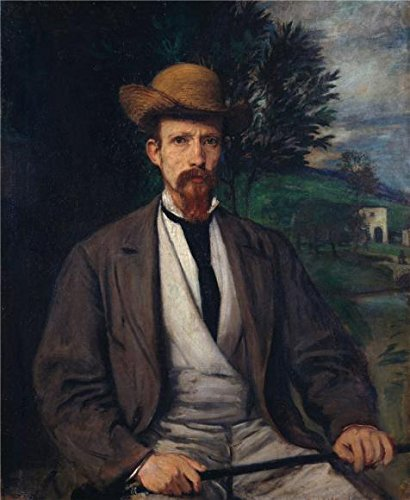 [High Quality Polyster Canvas ,the Reproductions Art Decorative Prints On Canvas Of Oil Painting 'Hans Von Marees-Yellow Hat,1874', 10x12 Inch / 25x31 Cm Is Best For Dining Room Decoration And Home Gallery Art And] (Kangaroo Costume Rental)