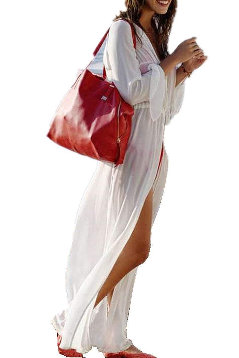 TALLA Talla única. L-Peach Camiseta Larga Pareo Bikini Cover Up para Playa Talla única