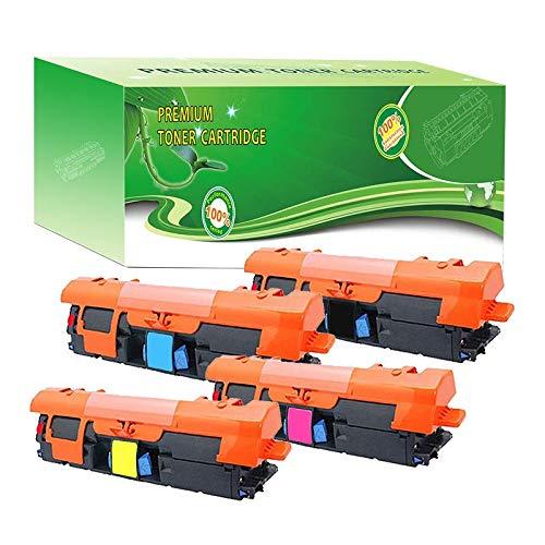 ABCink C9700A C9701A C9703A C9702A 121A Toner Compatible for HP Laserjet C9700A C9701A C9702A C9703A C9704A Color Laser Printer Toner Cartridge,4 Pack(1 Black,1 Cyan,1 Yellow,1 Magenta)