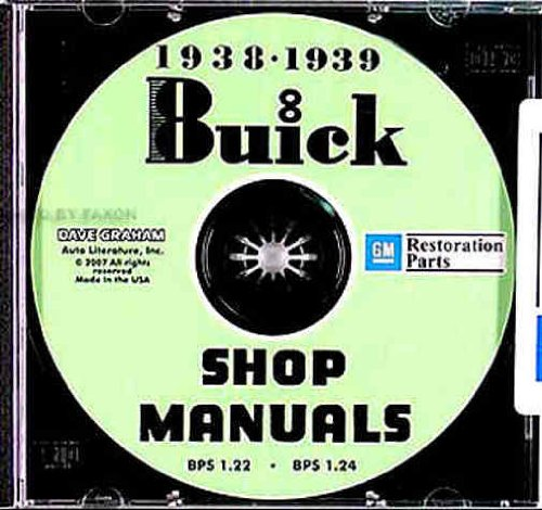 1938-1939 Buick Shop Manuals on CDrom