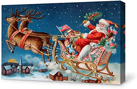 signwin Canvas Wall Art Merry Christmas Canvas Prints Home Artwork Decoration
