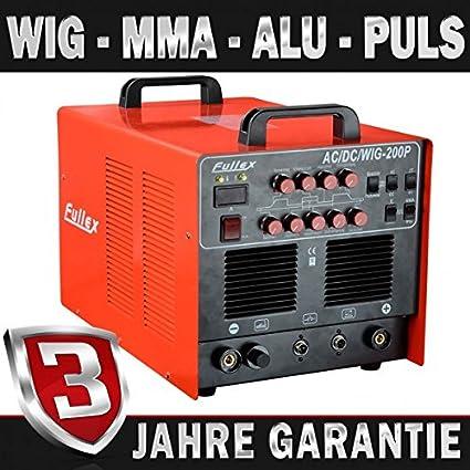 AC/DC TIG MMA FULLEX 200 P inversor equipo de soldadura de aluminio & función